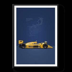 Lotus 99T Senna Poster
