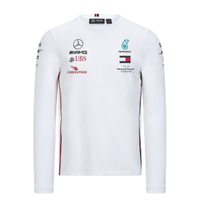 MERCEDES WHITE LONGSLEEVE SHIRT