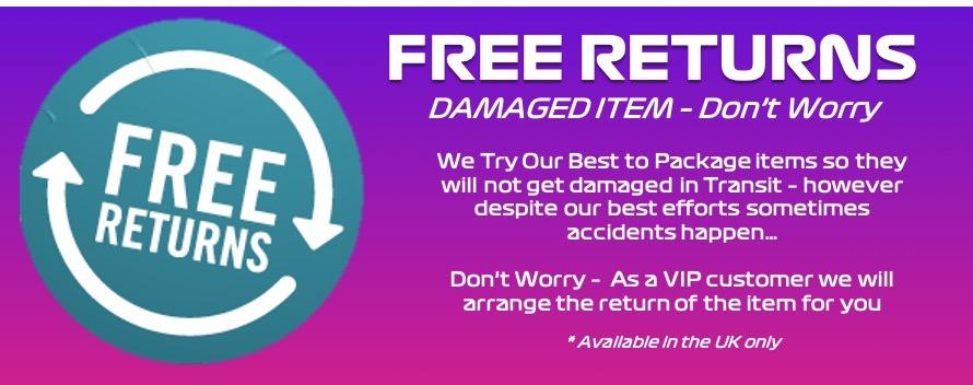 free returns banner